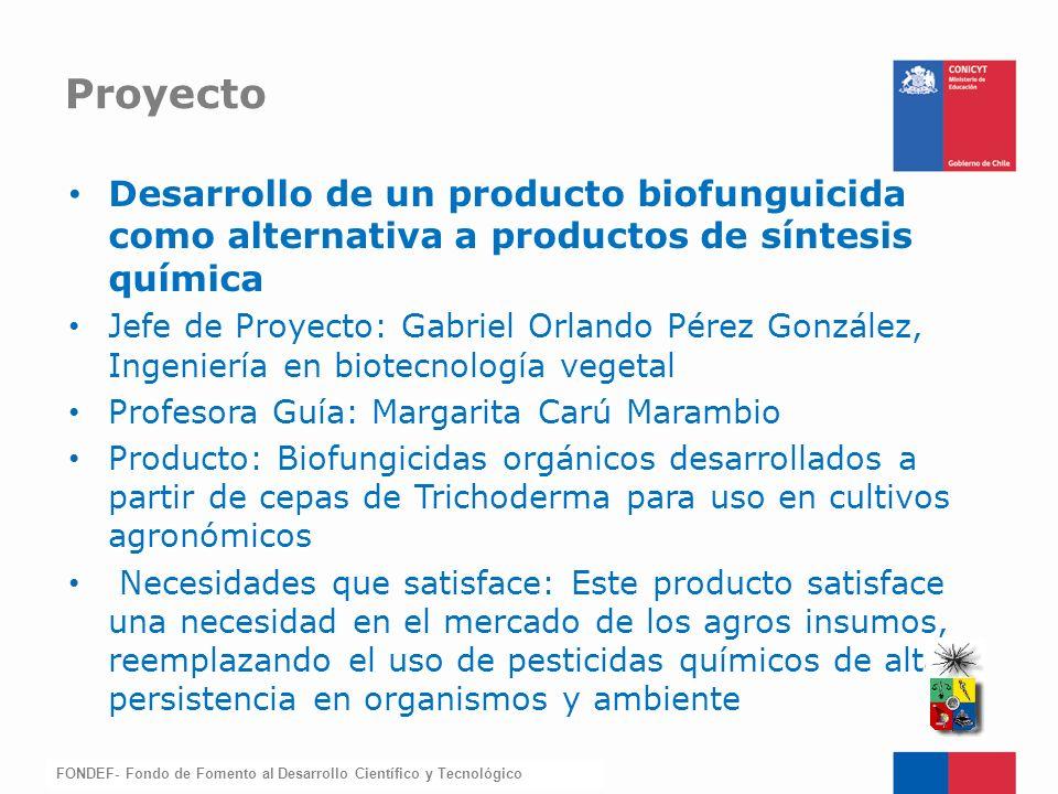 Proyecto Desarrollo de un producto biofunguicida como alternativa a productos de síntesis química.