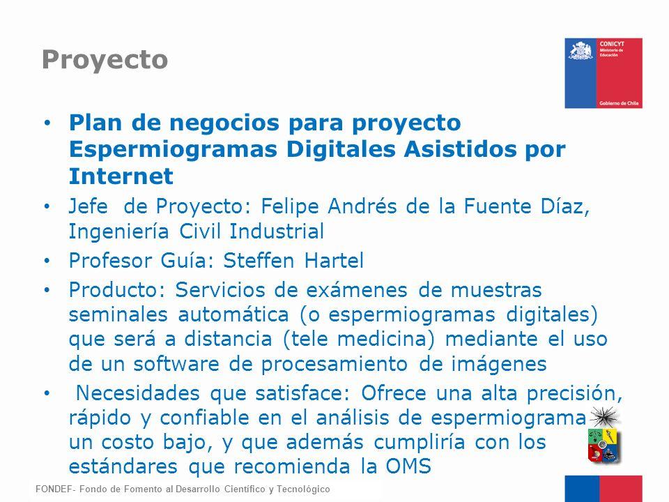 Proyecto Plan de negocios para proyecto Espermiogramas Digitales Asistidos por Internet.