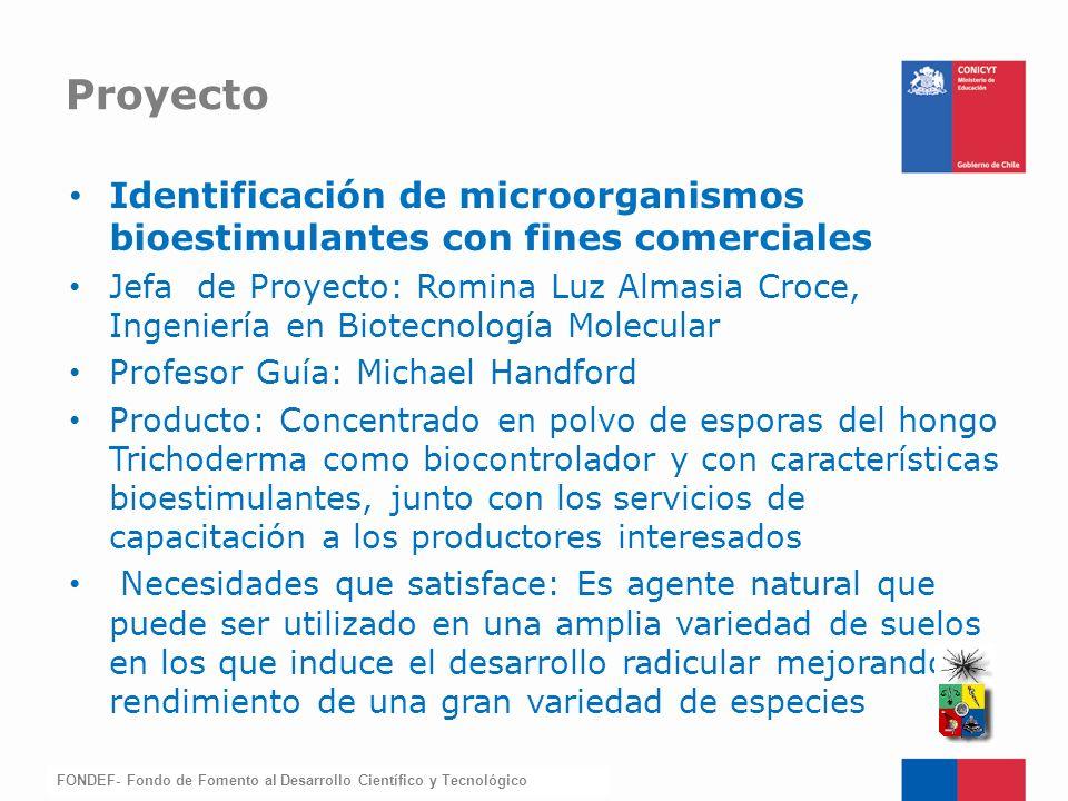 Proyecto Identificación de microorganismos bioestimulantes con fines comerciales.
