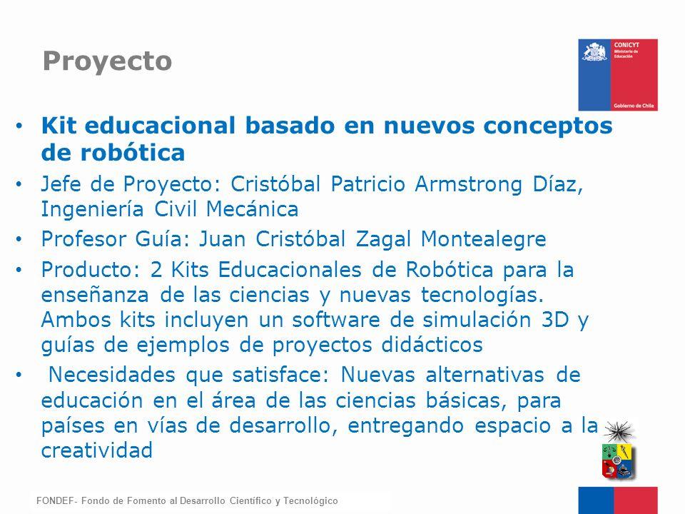 Proyecto Kit educacional basado en nuevos conceptos de robótica