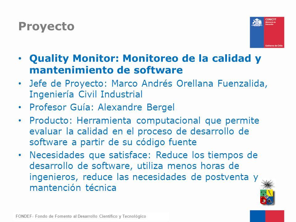 Proyecto Quality Monitor: Monitoreo de la calidad y mantenimiento de software.