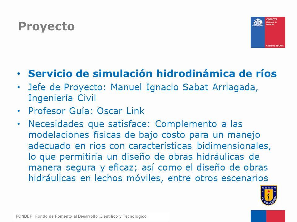 Proyecto Servicio de simulación hidrodinámica de ríos