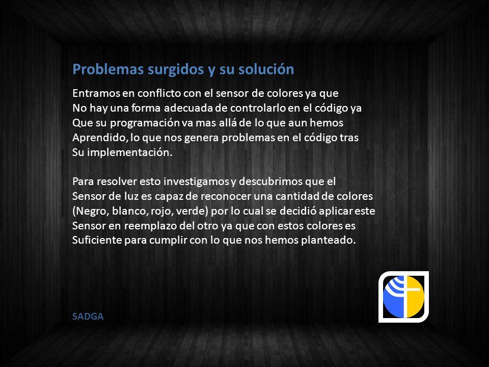 Problemas surgidos y su solución