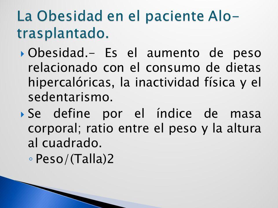 La Obesidad en el paciente Alo-trasplantado.