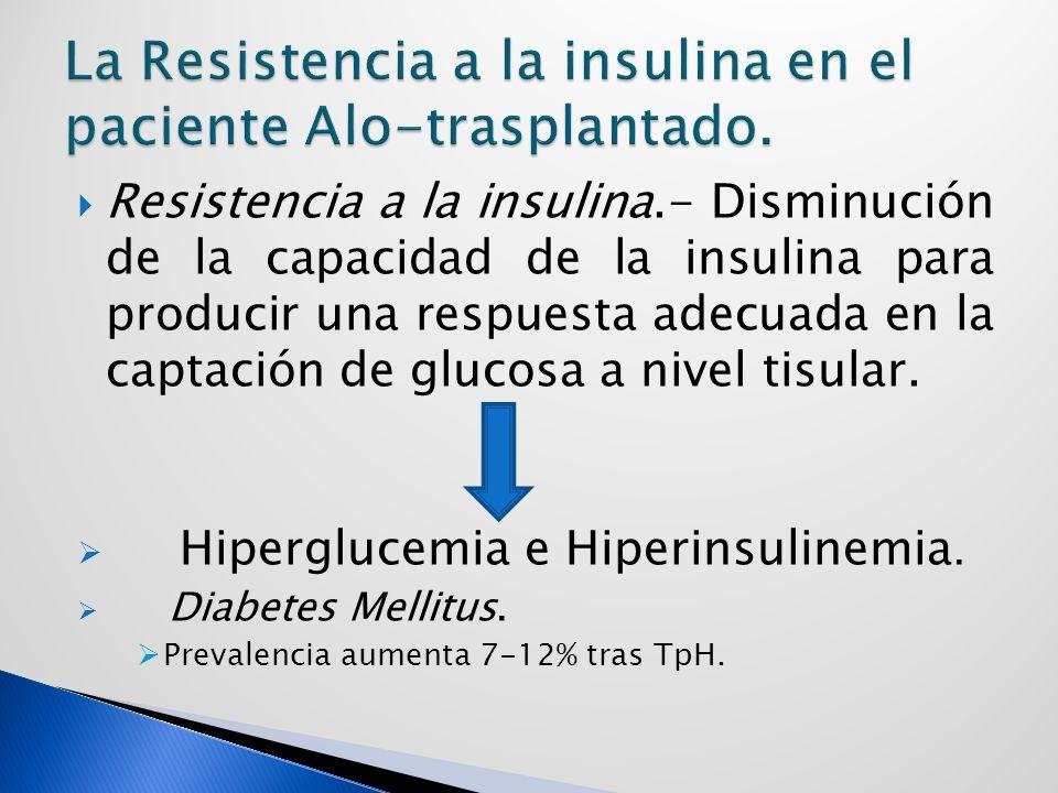 La Resistencia a la insulina en el paciente Alo-trasplantado.