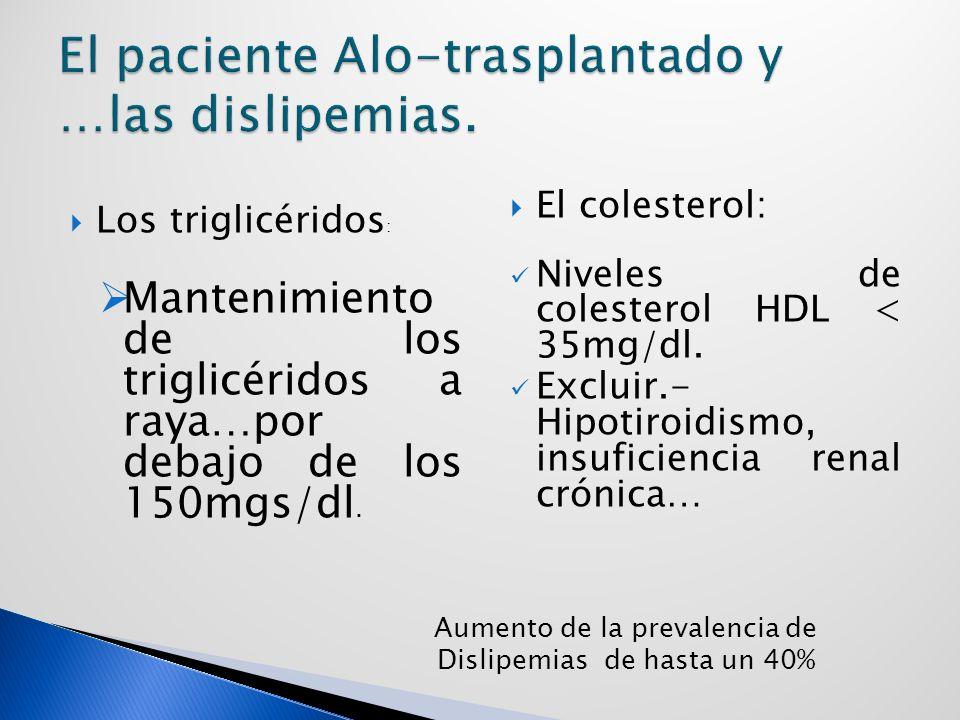 El paciente Alo-trasplantado y …las dislipemias.