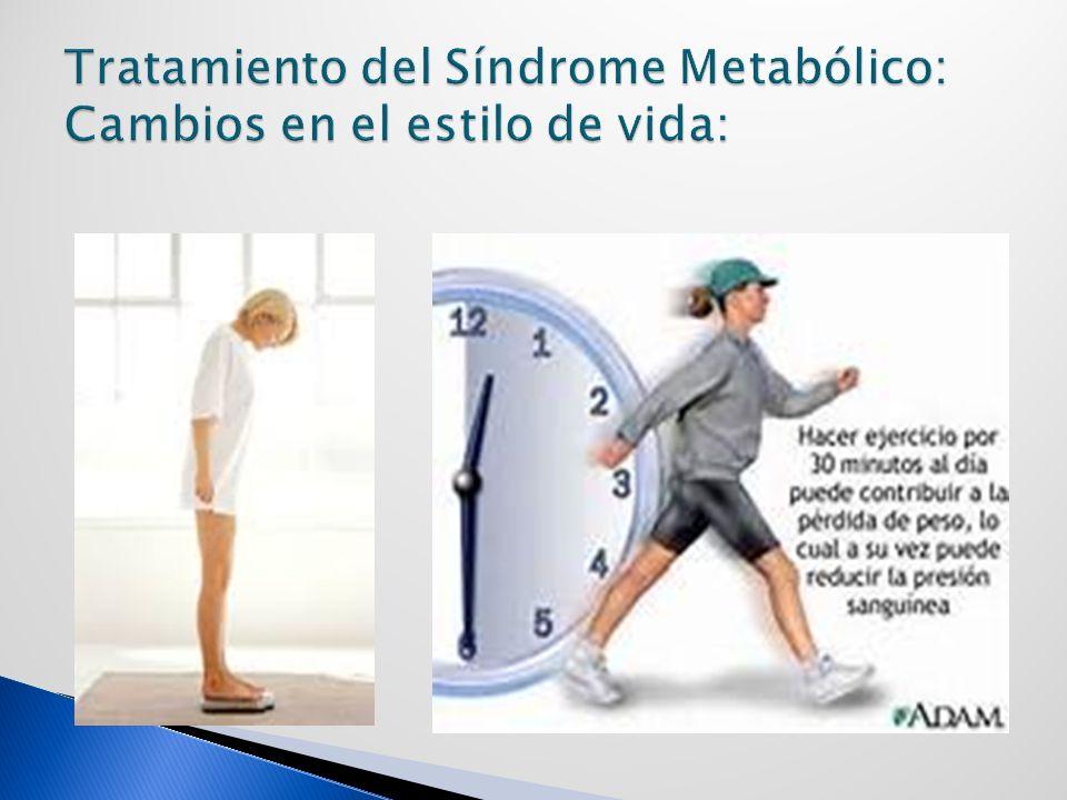 Tratamiento del Síndrome Metabólico: Cambios en el estilo de vida: