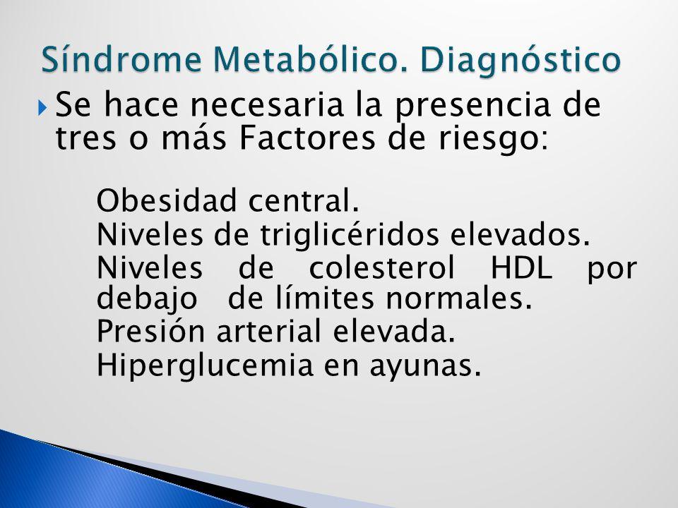 Síndrome Metabólico. Diagnóstico