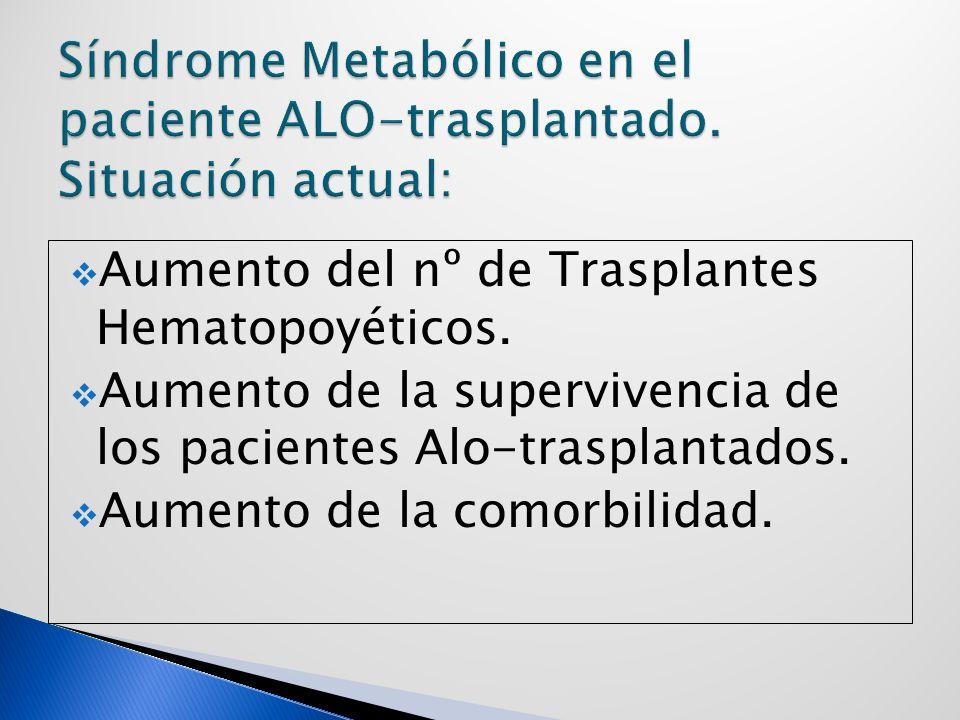 Síndrome Metabólico en el paciente ALO-trasplantado. Situación actual: