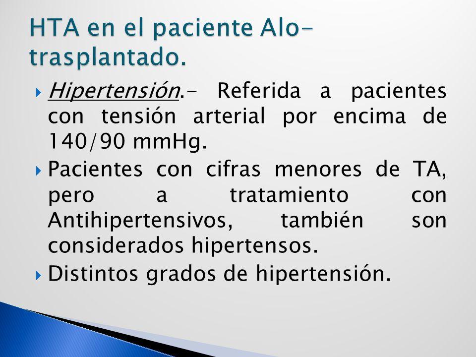 HTA en el paciente Alo-trasplantado.