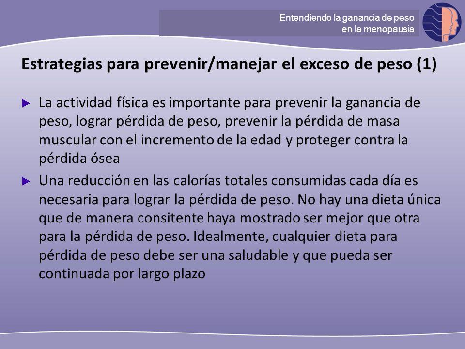 Estrategias para prevenir/manejar el exceso de peso (1)