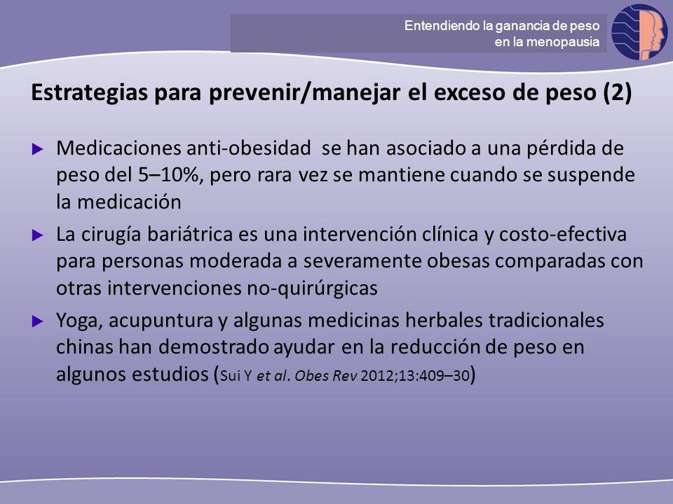 Estrategias para prevenir/manejar el exceso de peso (2)
