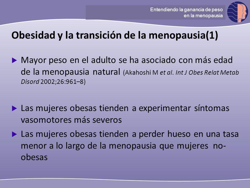 Obesidad y la transición de la menopausia(1)