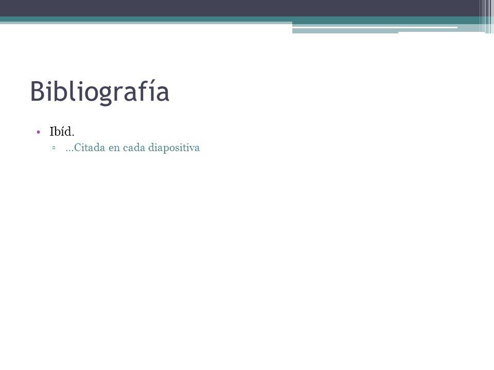 Bibliografía Ibíd. …Citada en cada diapositiva