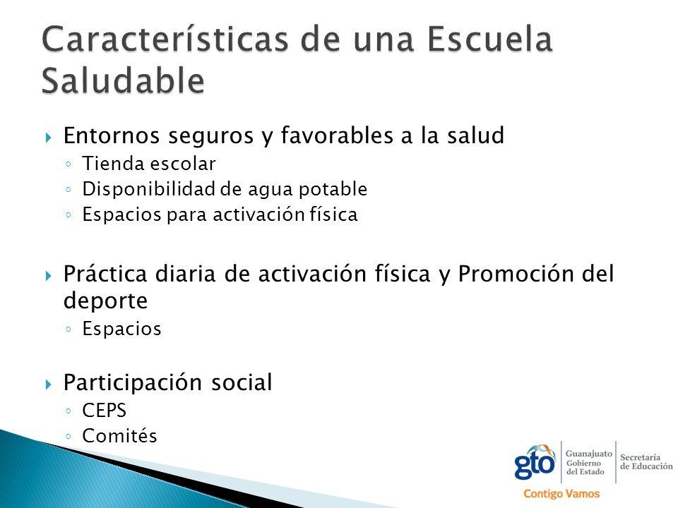Características de una Escuela Saludable