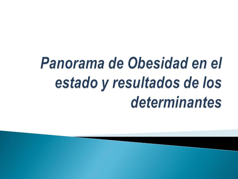 Panorama de Obesidad en el estado y resultados de los determinantes
