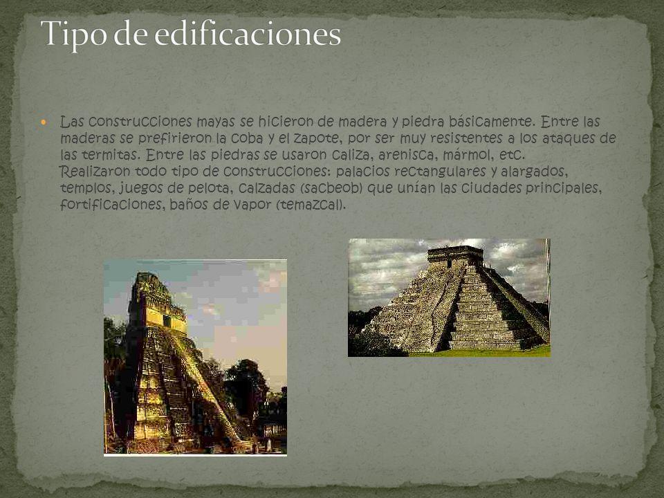 Tipo de edificaciones