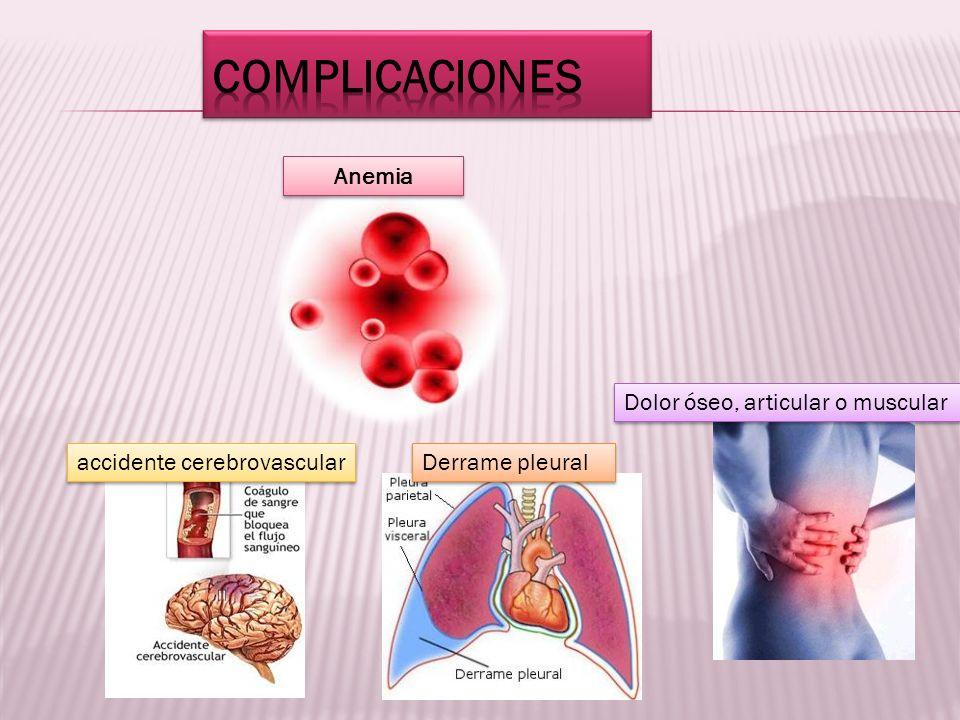 COMPLICACIONES Anemia Dolor óseo, articular o muscular
