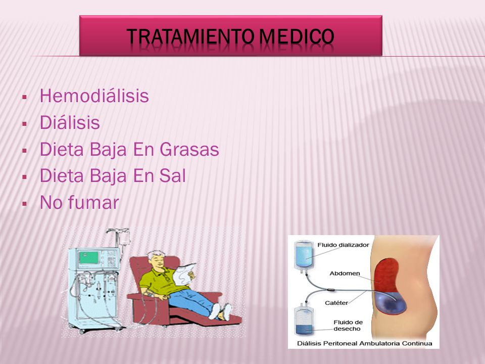 Tratamiento medico Hemodiálisis Diálisis Dieta Baja En Grasas