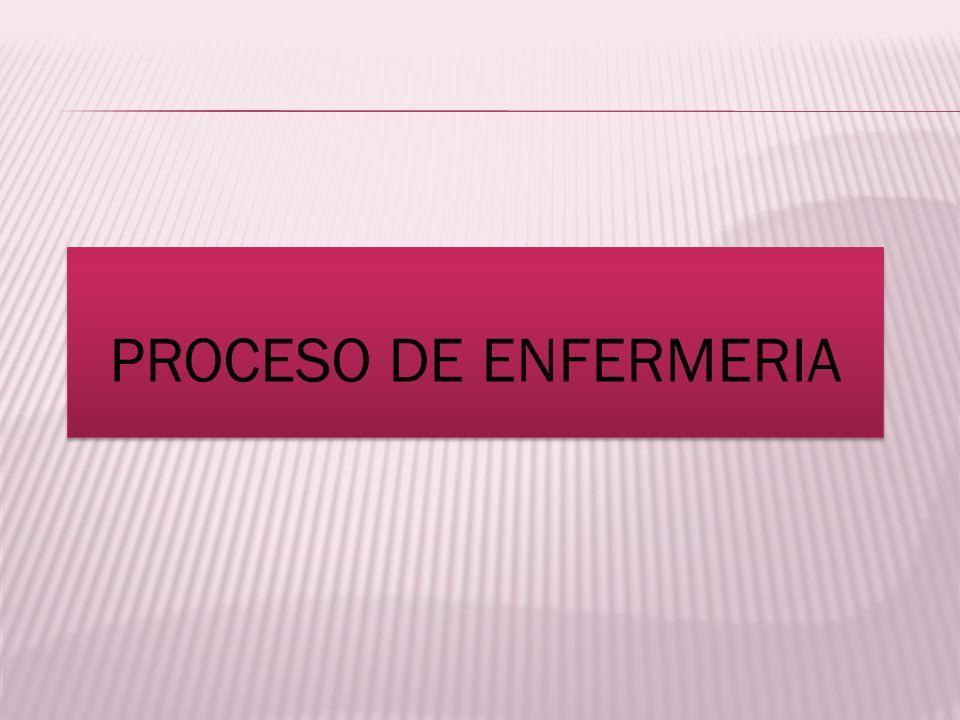 PROCESO DE ENFERMERIA