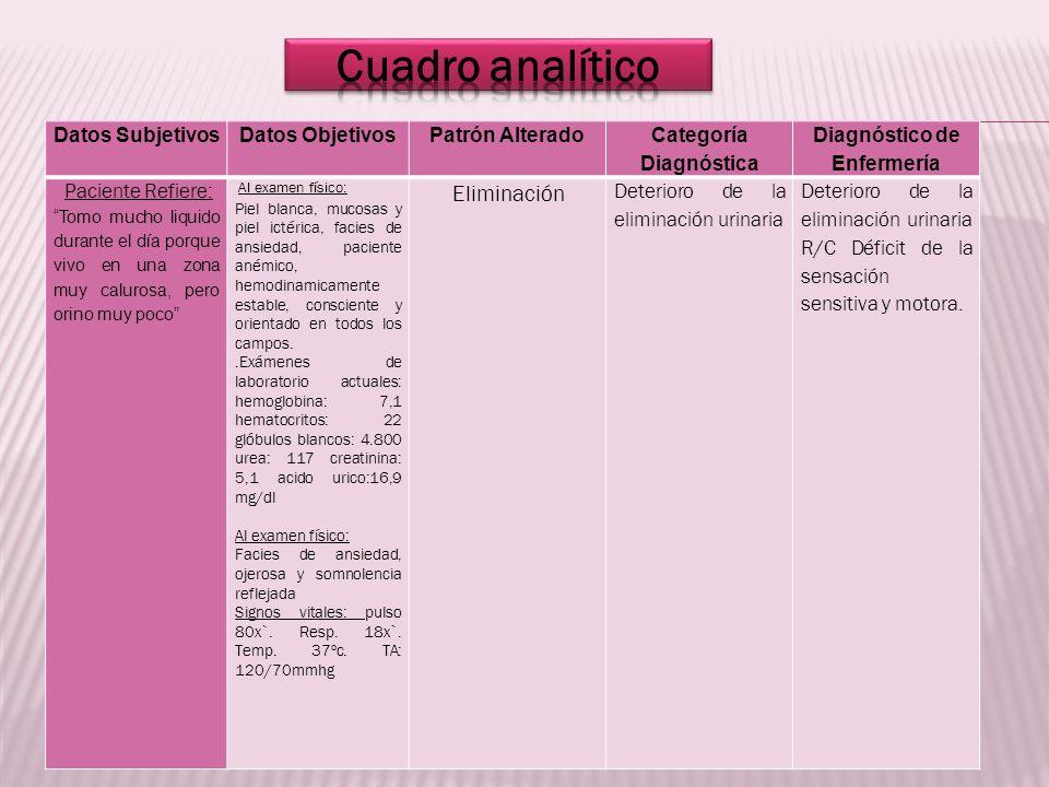 Categoría Diagnóstica Diagnóstico de Enfermería