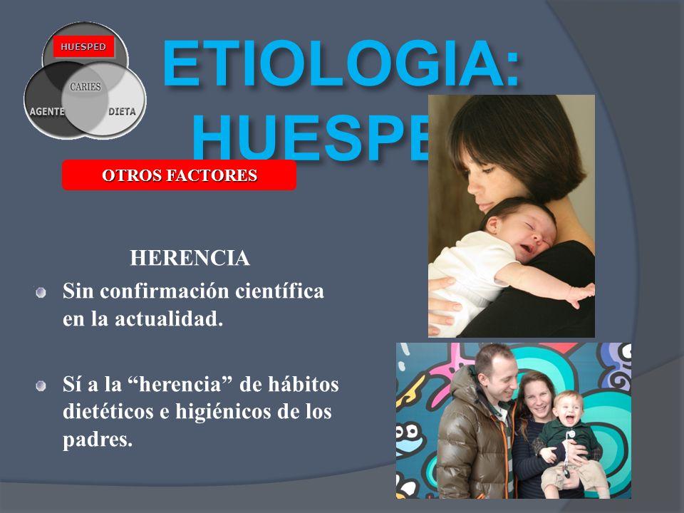 ETIOLOGIA: HUESPED HERENCIA