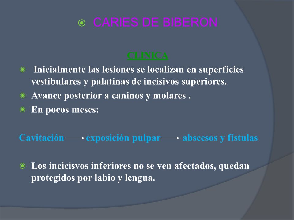 CARIES DE BIBERON CLINICA
