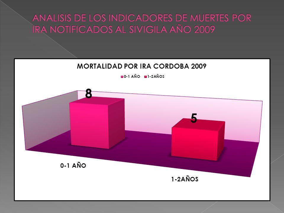 ANALISIS DE LOS INDICADORES DE MUERTES POR IRA NOTIFICADOS AL SIVIGILA AÑO 2009