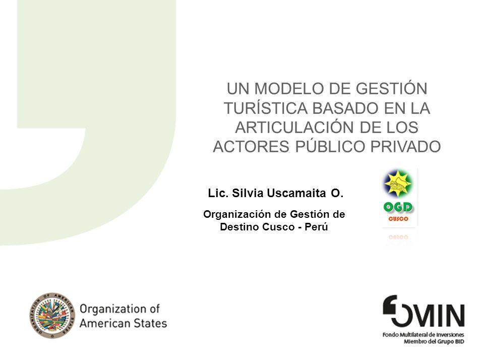 Organización de Gestión de Destino Cusco - Perú