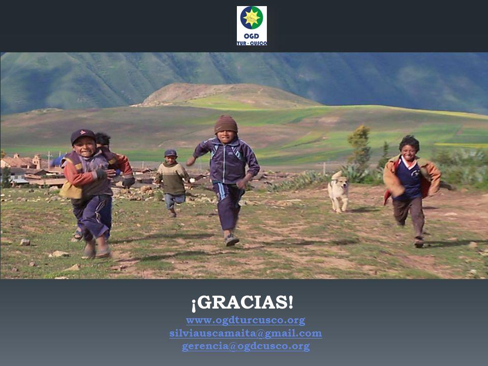 ¡GRACIAS! www.ogdturcusco.org silviauscamaita@gmail.com