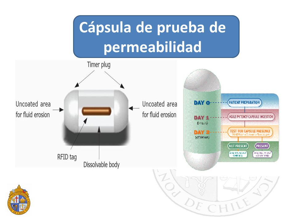 Cápsula de prueba de permeabilidad