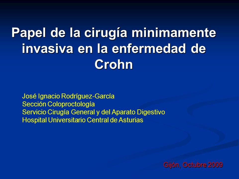Papel de la cirugía minimamente invasiva en la enfermedad de Crohn