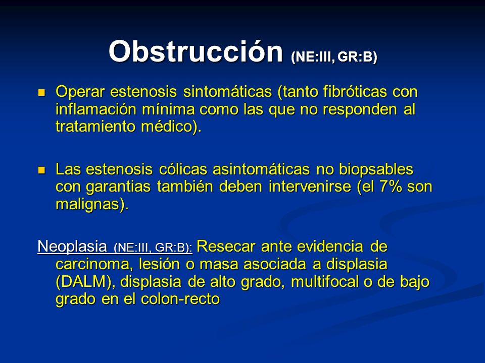 Obstrucción (NE:III, GR:B)