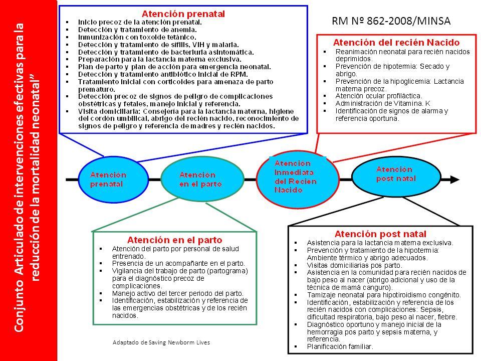 RM Nº 862-2008/MINSA Conjunto Articulado de intervenciones efectivas para la reducción de la mortalidad neonatal