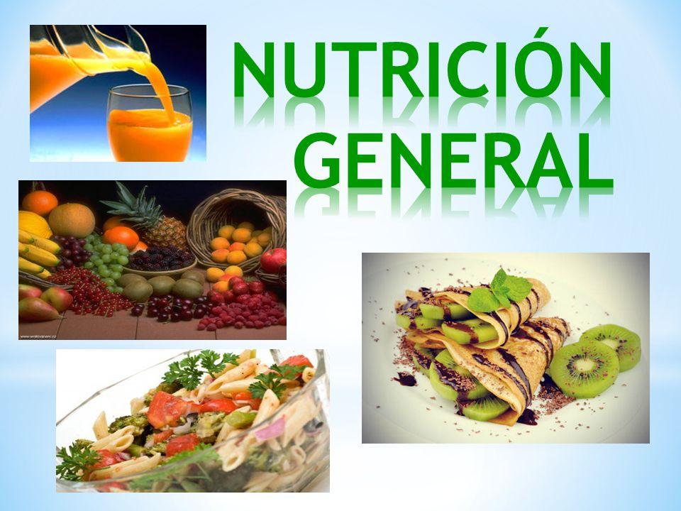 NUTRICIÓN GENERAL
