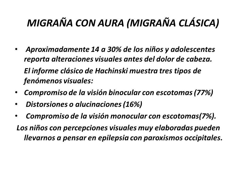 MIGRAÑA CON AURA (MIGRAÑA CLÁSICA)