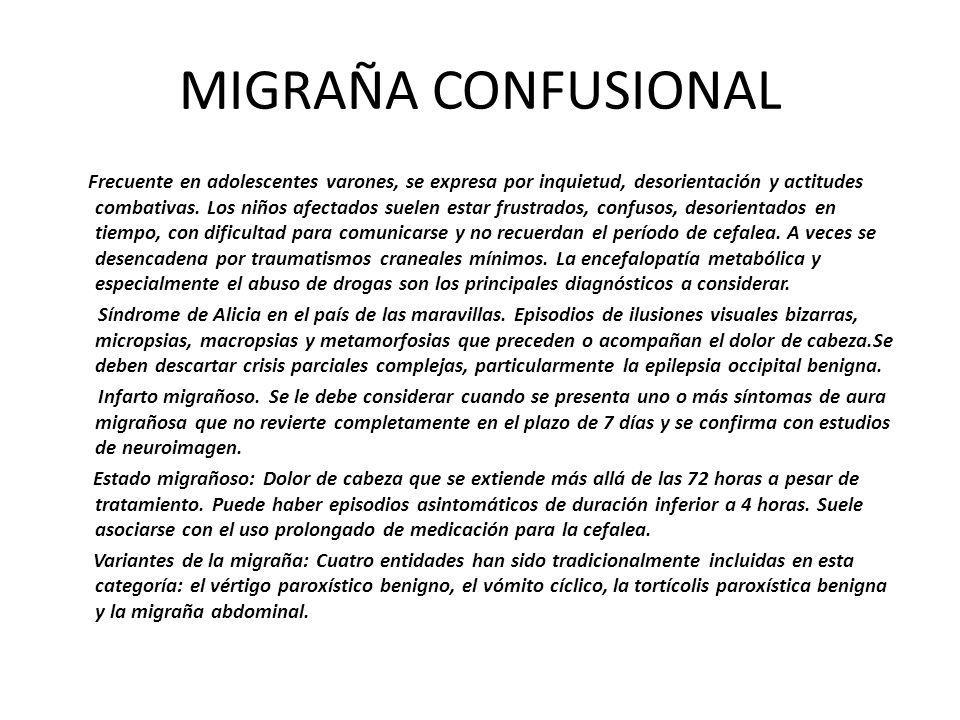 MIGRAÑA CONFUSIONAL