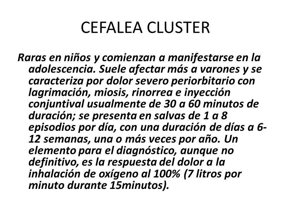 CEFALEA CLUSTER
