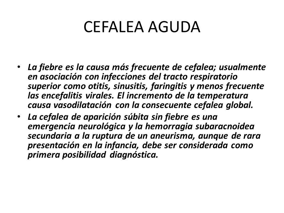 CEFALEA AGUDA