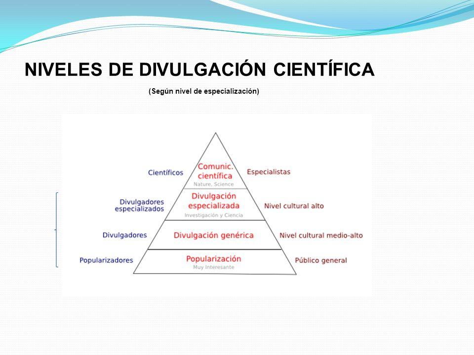 NIVELES DE DIVULGACIÓN CIENTÍFICA