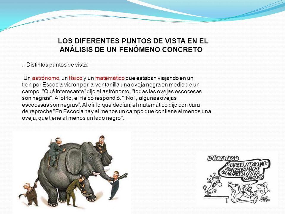 LOS DIFERENTES PUNTOS DE VISTA EN EL ANÁLISIS DE UN FENÓMENO CONCRETO
