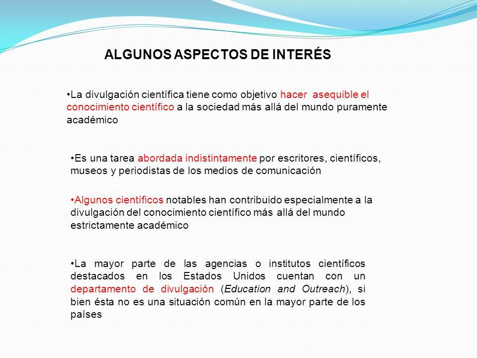 ALGUNOS ASPECTOS DE INTERÉS