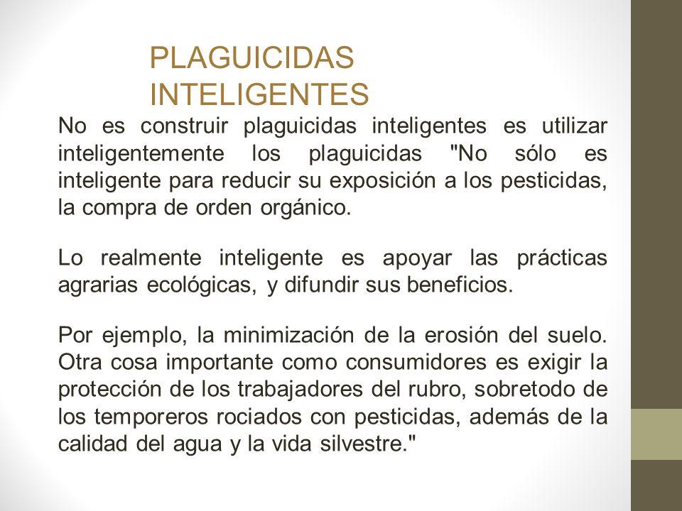 PLAGUICIDAS INTELIGENTES