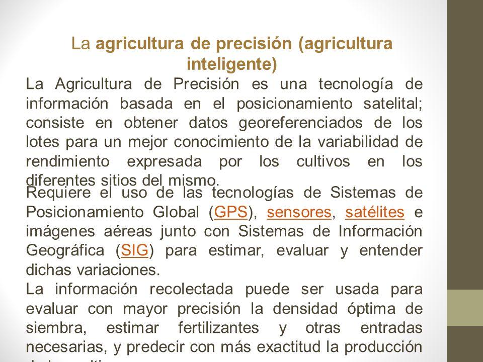 La agricultura de precisión (agricultura inteligente)