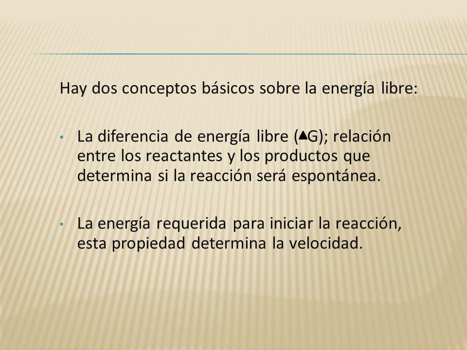 Hay dos conceptos básicos sobre la energía libre: