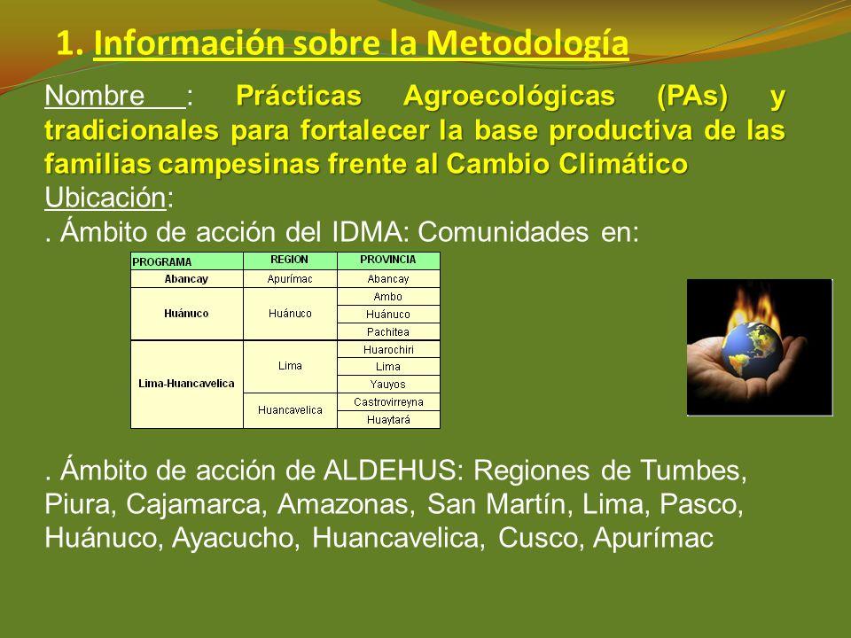 1. Información sobre la Metodología