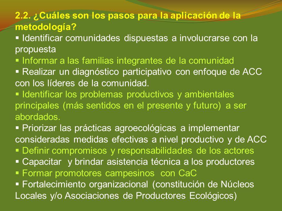 2.2. ¿Cuáles son los pasos para la aplicación de la metodología