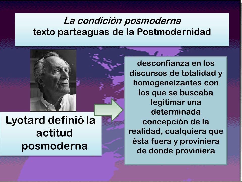 Lyotard definió la actitud posmoderna