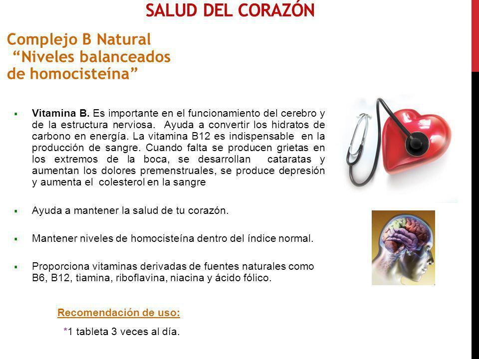 Salud del CorazóN Complejo B Natural Niveles balanceados