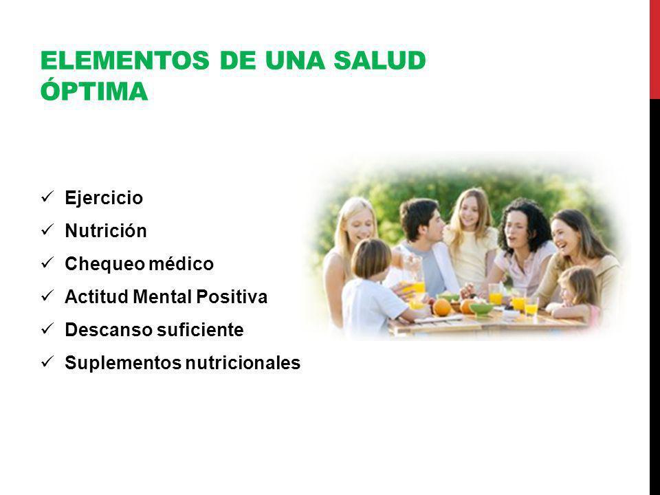 Elementos de una salud óptima